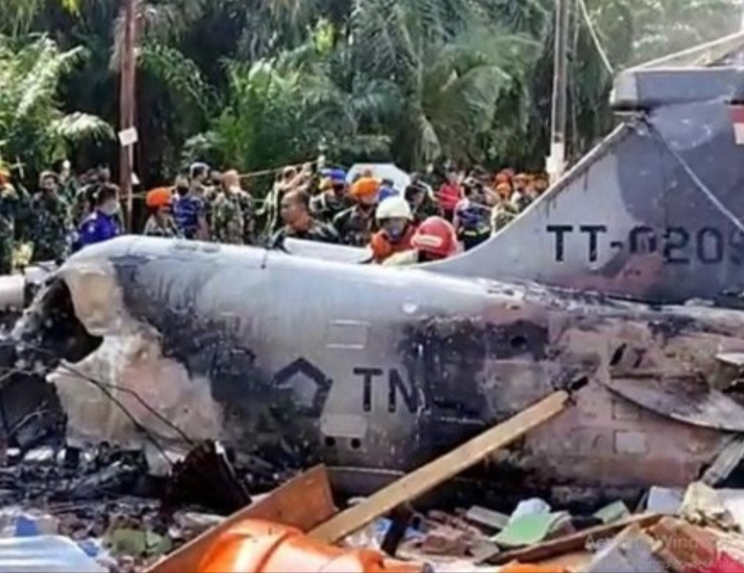 Pesawat TNI AU jatuh di Kampar, Riau